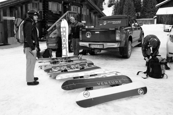 Test Poll mit Splitboards Europe Pick Up